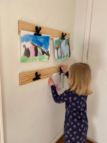 Modplay Black Clip Wooden Art Display