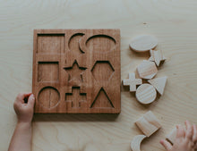 Load image into Gallery viewer, Wooden Shape Puzzle