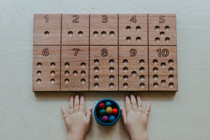 Wooden Tracing and Counting Board