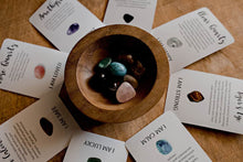 Load image into Gallery viewer, Crystal Affirmations with 8 Cards and Tumble Stones