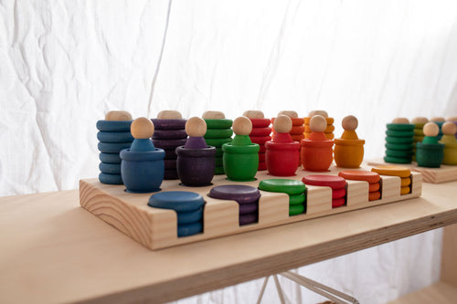 *READY TO SHIP* Modplay Half Set Wooden Rings, Mates and Coin Holder