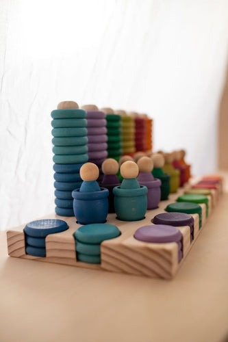 Modplay Full Set Wooden Rings, Mates and Coin Holder