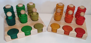 Modplay Mini Set Wooden Rings, Mates and Coins Holder