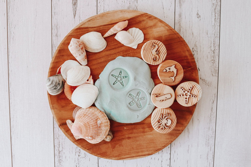 Sea Creatures Playdough Stamps