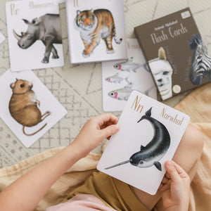 Animal Alphabet Flash Cards - Modern Monty
