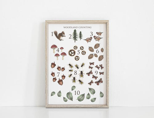 Woodland Counting Art Print