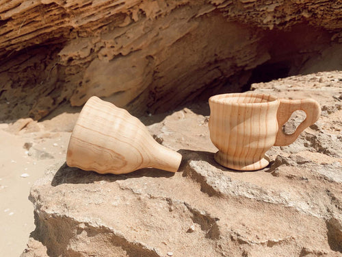 Wooden Funnel & Large Cup Set