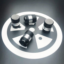 Load image into Gallery viewer, Black & Silver Mid Valve Caps x4 (Metal)