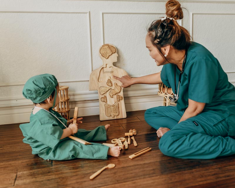 Qtoys Wooden Anatomy Puzzle