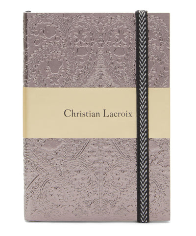 Christian Lacroix  A6 Paseo Embossed Notebook - Farve: Onyx