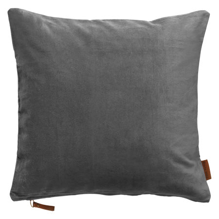 Cozy living Velour pude - Farve: Cool Grey