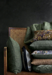 Cozy Living Pude - Design: Aida printed Cushion - Farve: Army