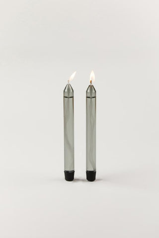 GLASS CANDLES, OIL CANDLES - Farve: Smoke