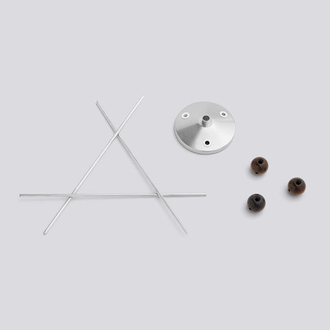 HAY  NELSON FIXTURE FOR TRIPLE BUBBLE LAMP  Farve: Valnød & Metal