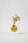 STANDING FLOWER BUBBLE, LOW TUBE - Farve: Amber