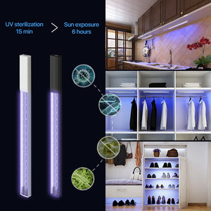 Helian UV Light Sanitizer, Ultraviolet Disinfection lamp Portable uv sanitizer Wand Without Chemicals for Hotel Household Wardrobe Toilet Car Pet Area,Germ-Killing Function