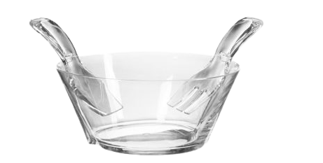 Mario Luca Giusti Salad Bowl with Servers - Clear