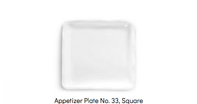 Montes Doggett - Appetizer Plate No. 33 - Square