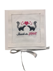 Skunk In Love Cocktail Napkins - Set of 4