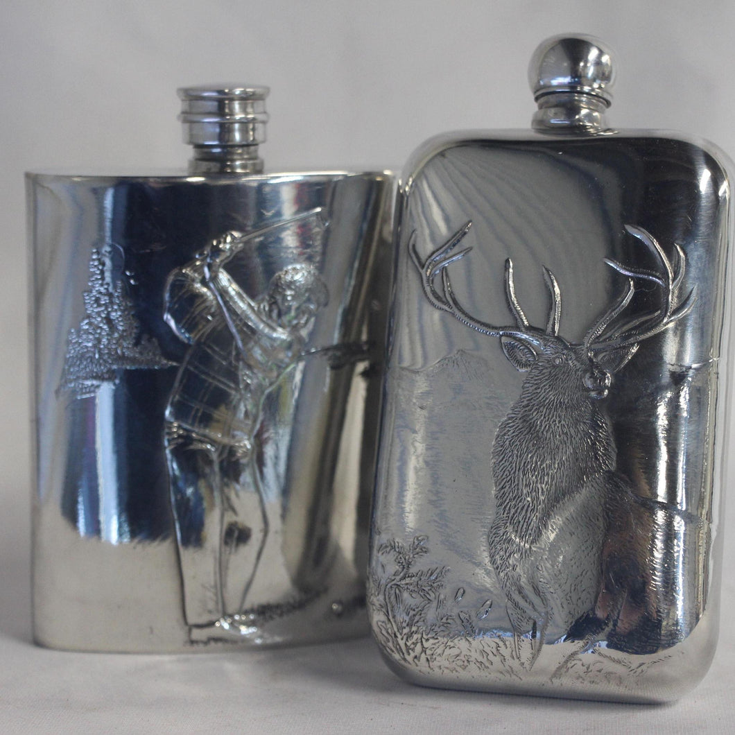 6. oz Ball Top Engraved Flask