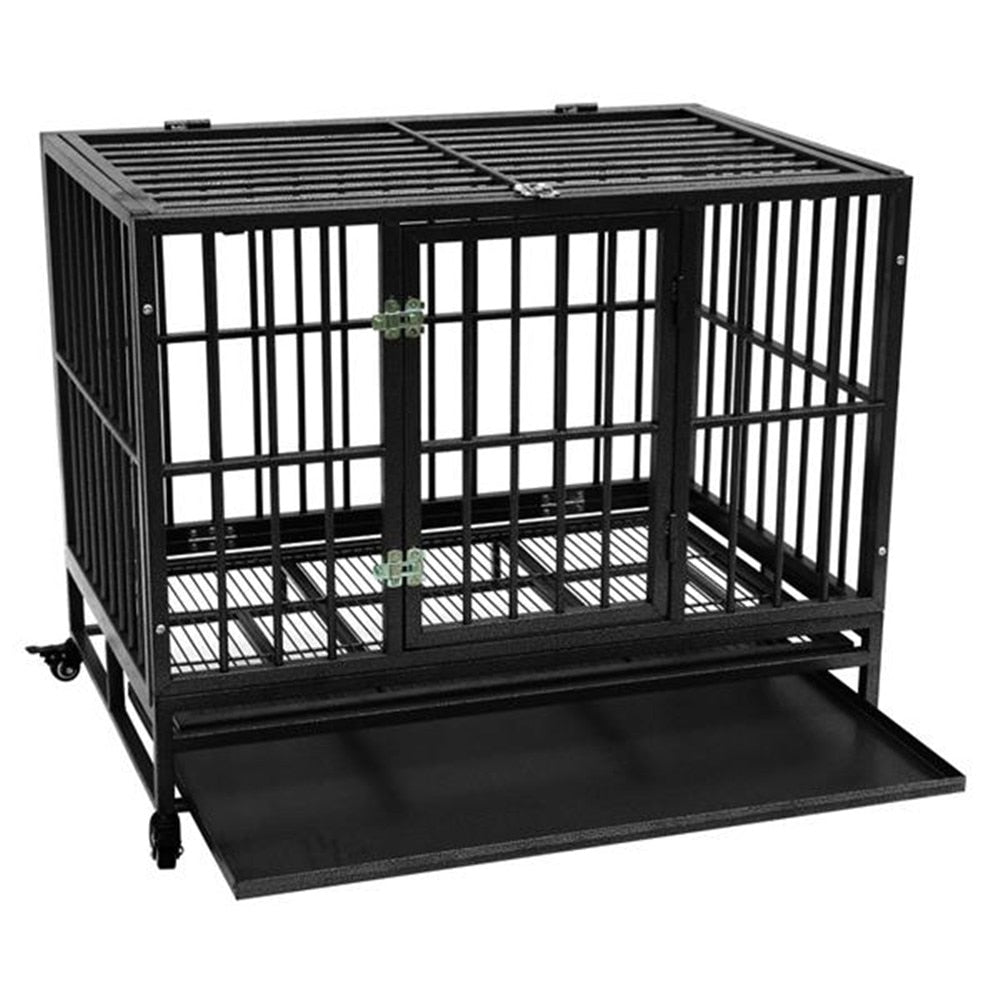 "High Quality 42"" Heavy Duty Dog Cage Crate Kennel"