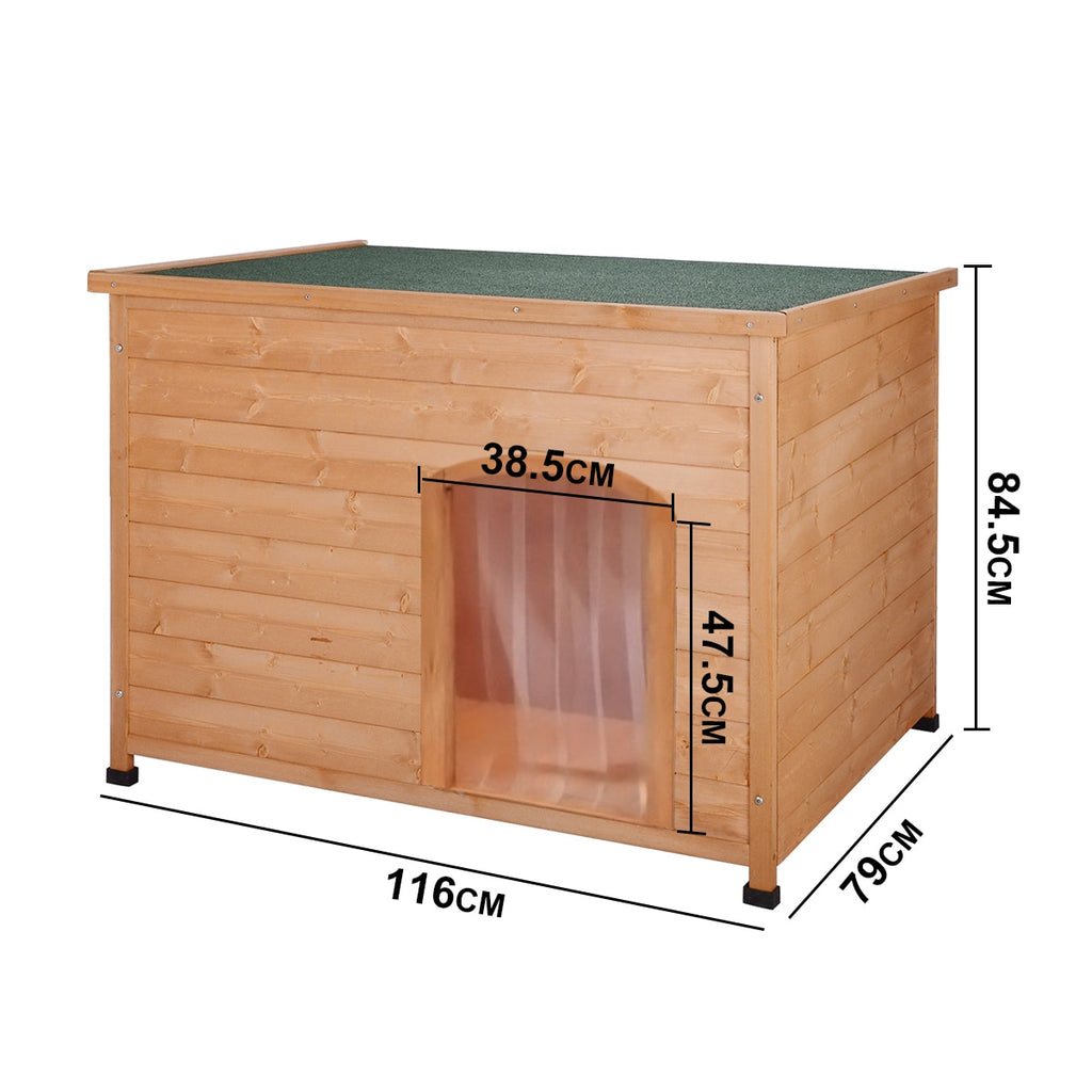 Wooden Pet Dog House Kennel Wood Home Waterproof