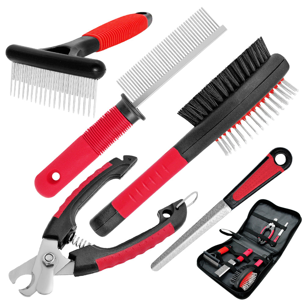 Dog Brush Combo Grooming Tool Set For Long Hair Dogs