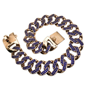 Stainless Steel Necklace Blue Diamond Collar/Leash