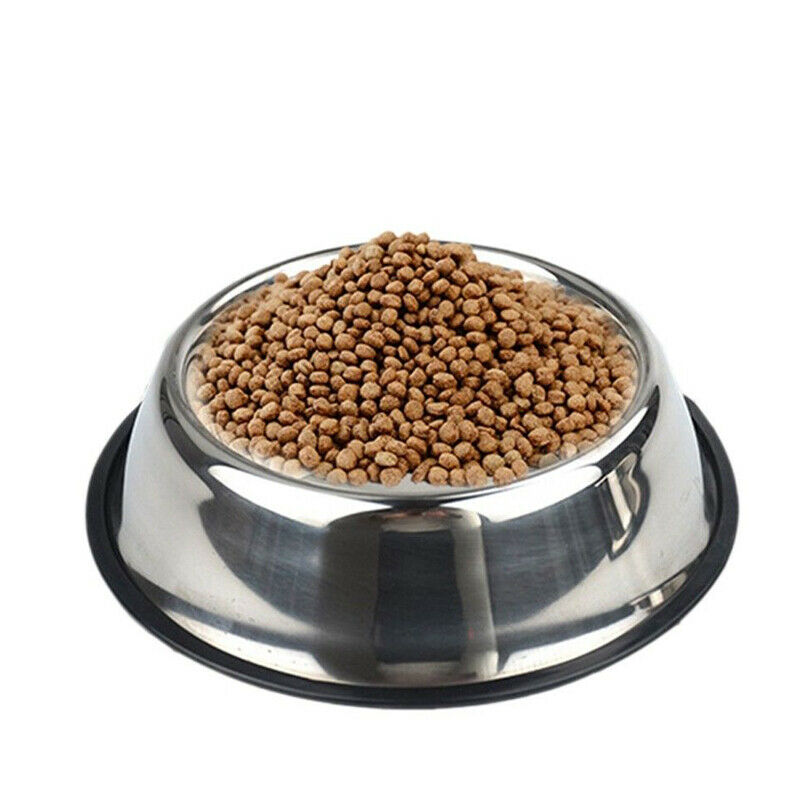 4 Sizes Dog Bowls Stainless Steel