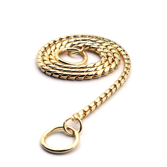 Gold Silver Stainless Steel Chain Training Choker