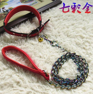 Iron chain titanium / gold color, dog collar leashes