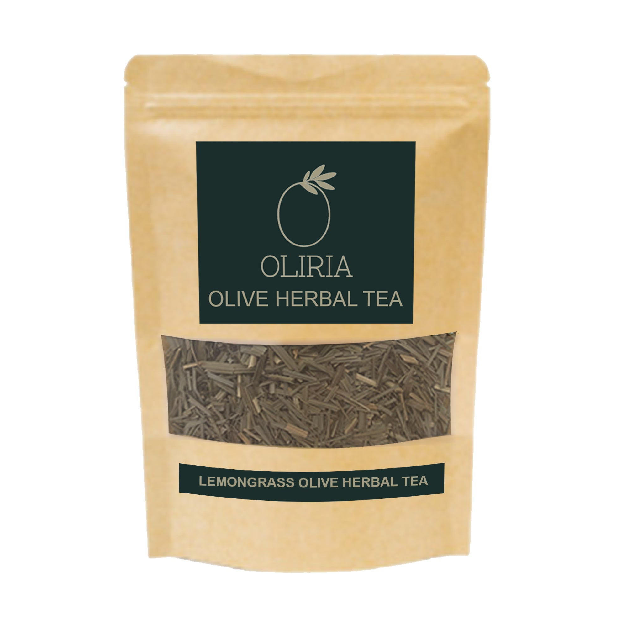 OLIRIA™ Lemongrass Natural Olive Green Tea Loose Packing 100g