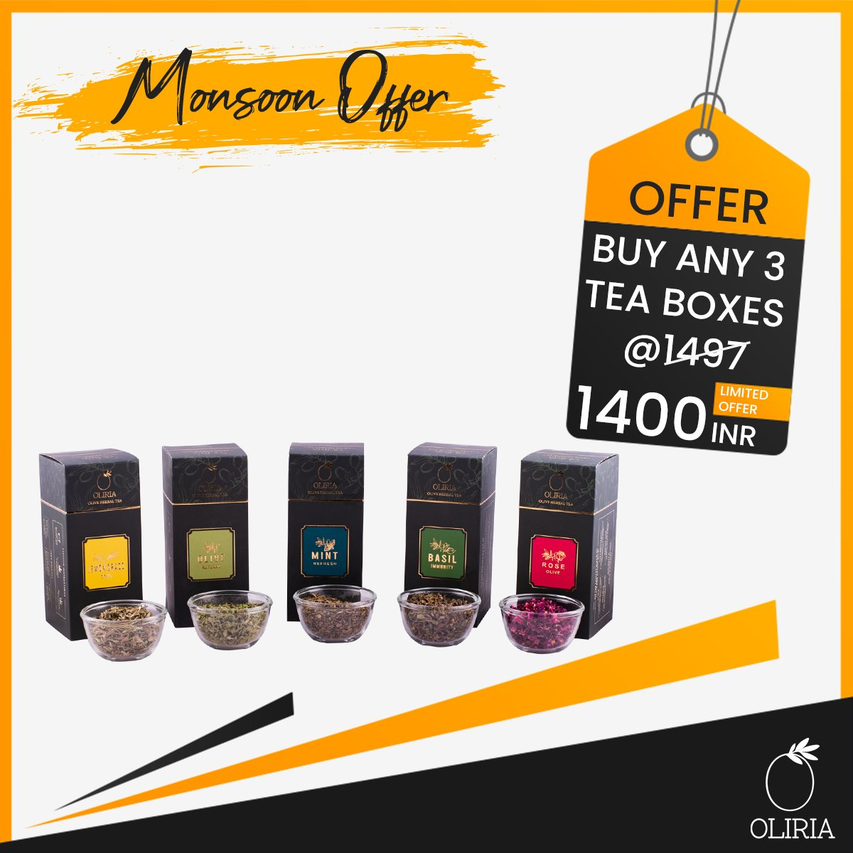 Buy Any Three Tea Boxes @1400 Only