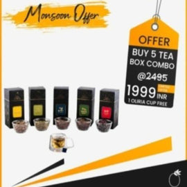 Buy 5 Tea Boxes Combo Pack @1999 And Get 1 Free Oliria Tea Cup