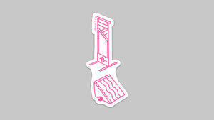 Guillotine sticker