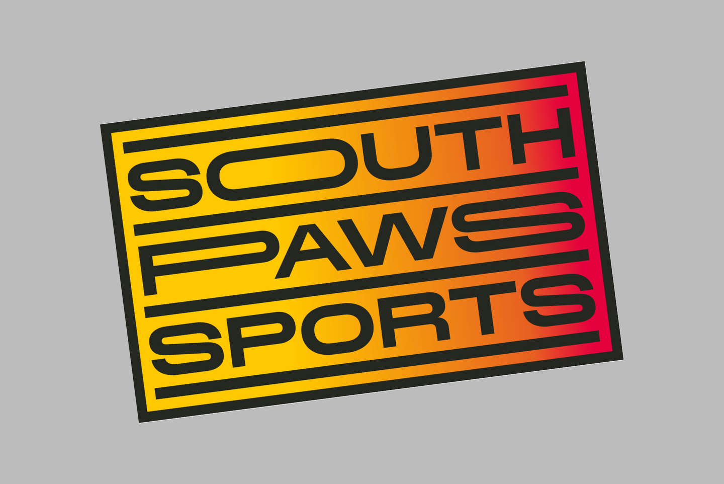Southpaws gradient sticker