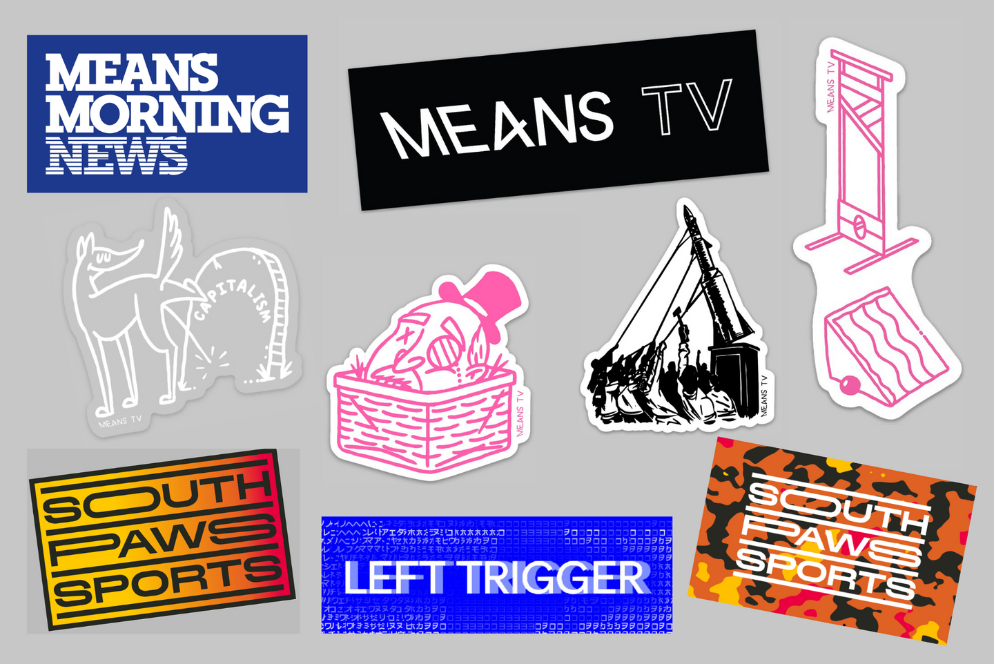 Big Ass Means TV sticker pack