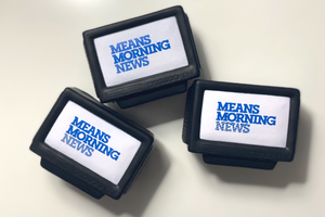 Means Morning News stress ball
