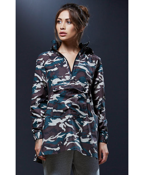 Sweat Crew Camouflage Pullover Windbreaker