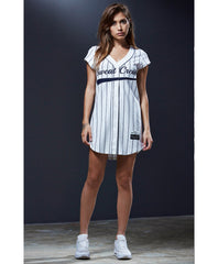 Sweat Crew Pinstripe Jersey Dress