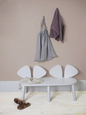 MOUSE BENCH (2-5 YEARS) // WHITE MDF