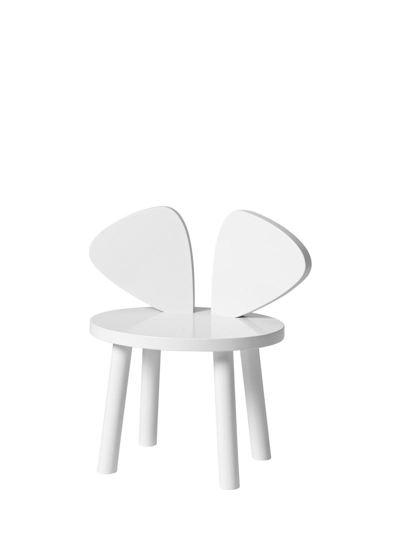 Nofred Mouse Chair White - Kids wooden chair in white color