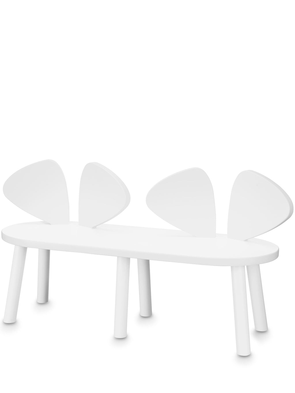 Nofred Mouse Bench White | Nofred Mouse Bench bænk hvid