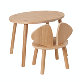 Nofred Mouse Chair and Mouse Table Lacquered Oak