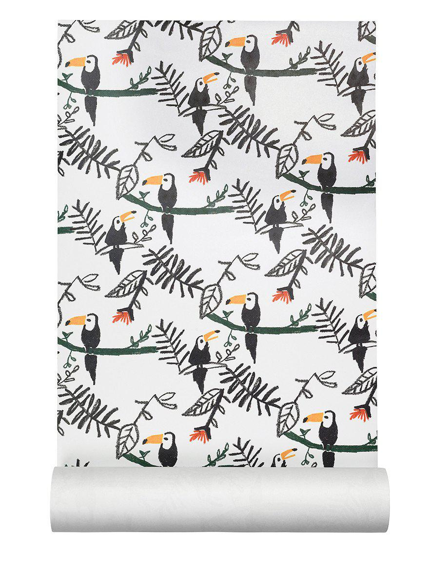 Nofred Kids Wallpaper with Toucan bird design