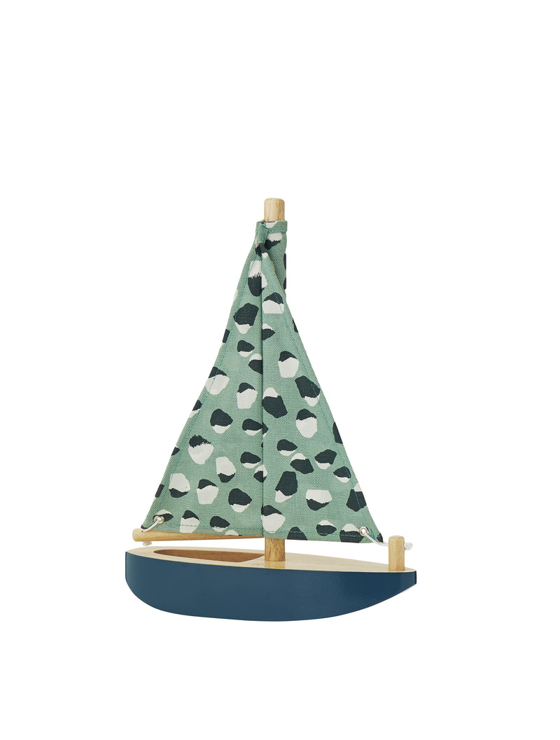 HARBOUR BOAT - WOODEN TOY SAILBOAT // PETROLEUM