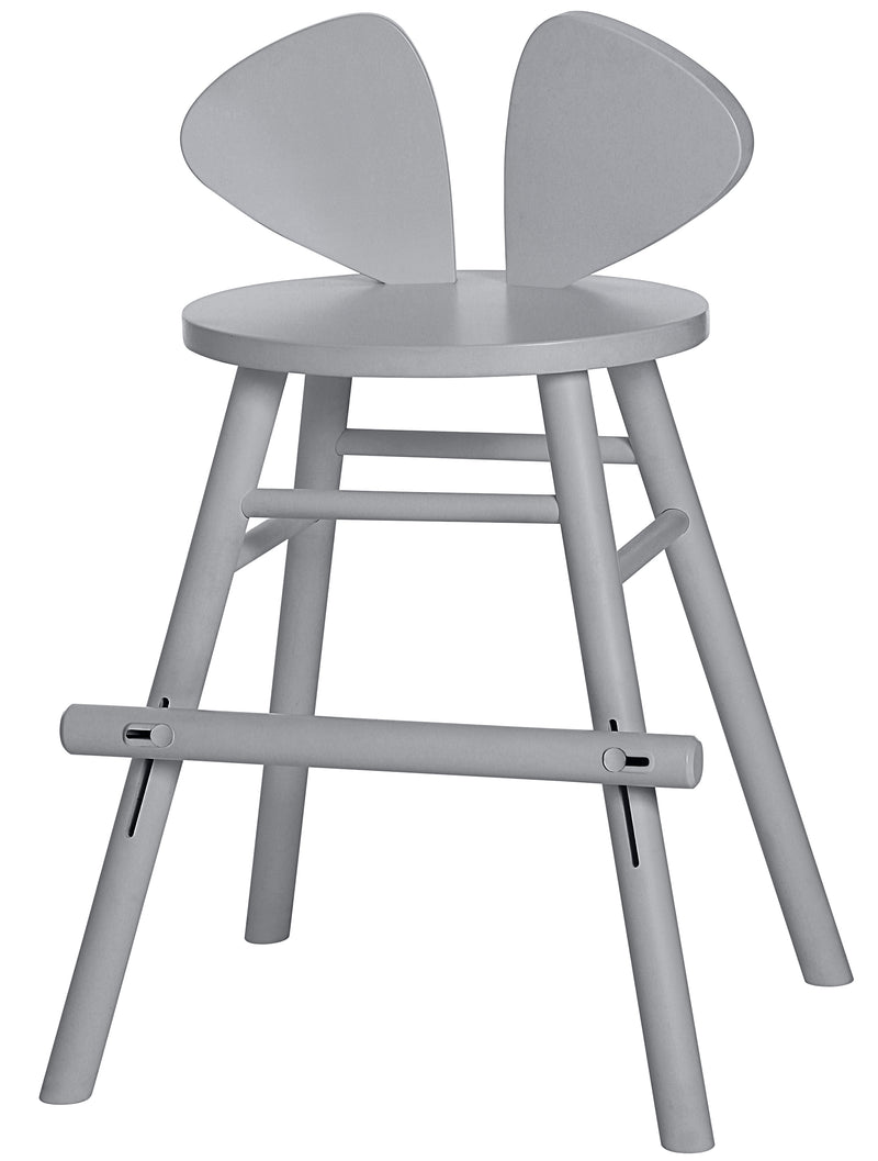 MOUSE JUNIOR HIGH CHAIR (4-8 YEARS)  // GREY