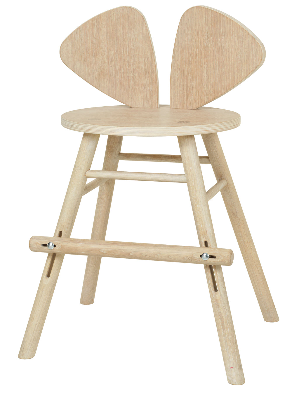 MOUSE JUNIOR HIGH CHAIR  (4-8 YEARS) // OAK