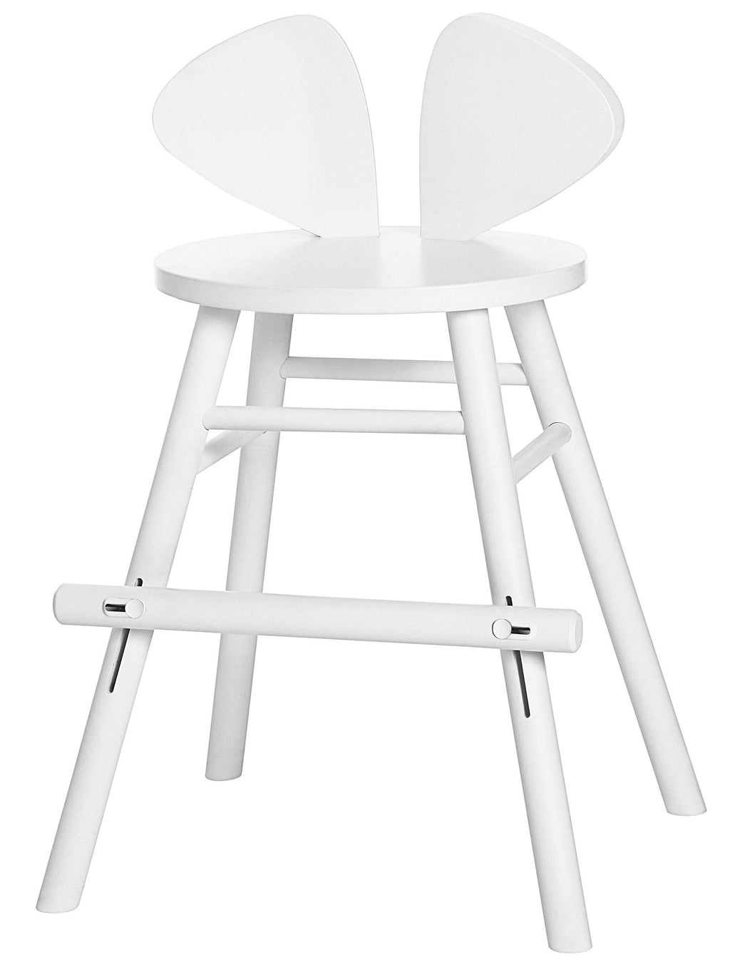 MOUSE JUNIOR HIGH CHAIR (4-8 YEARS) // WHITE