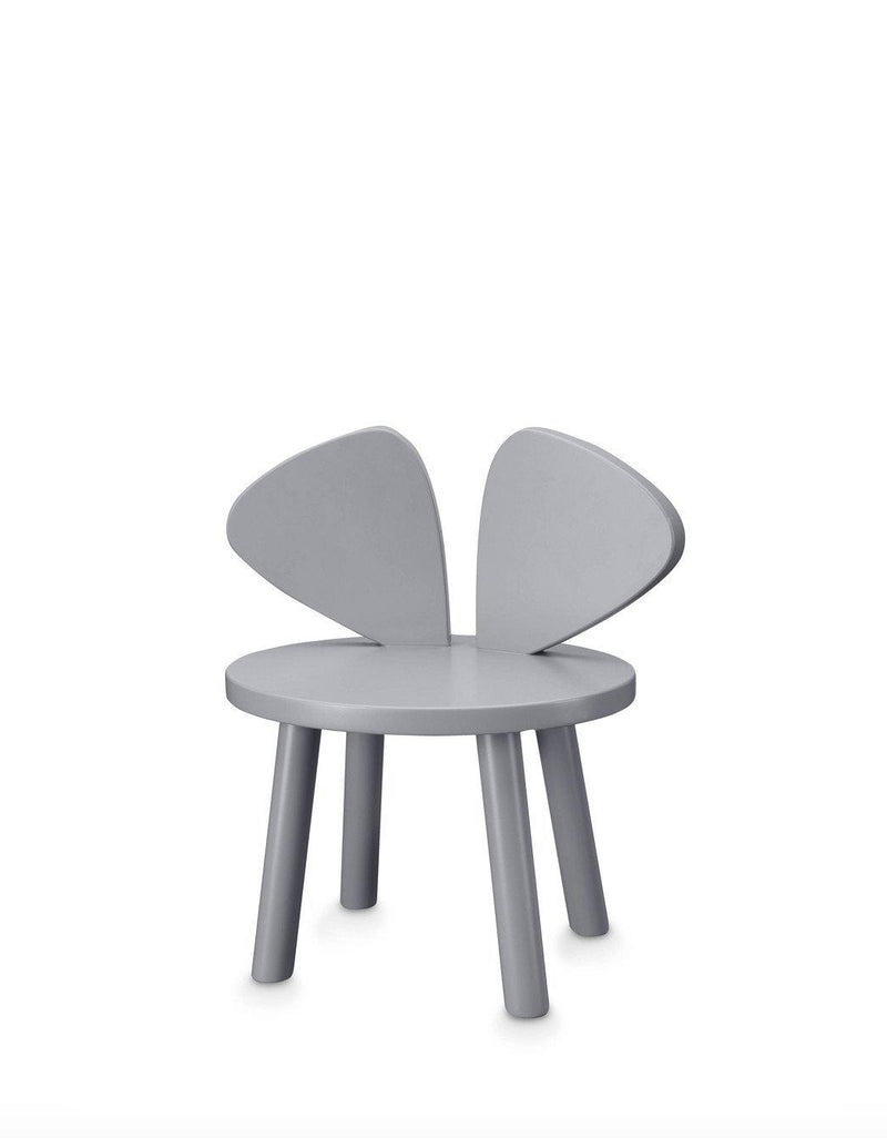 Nofred Mouse Chair Grey - Kids wooden chair in grey color